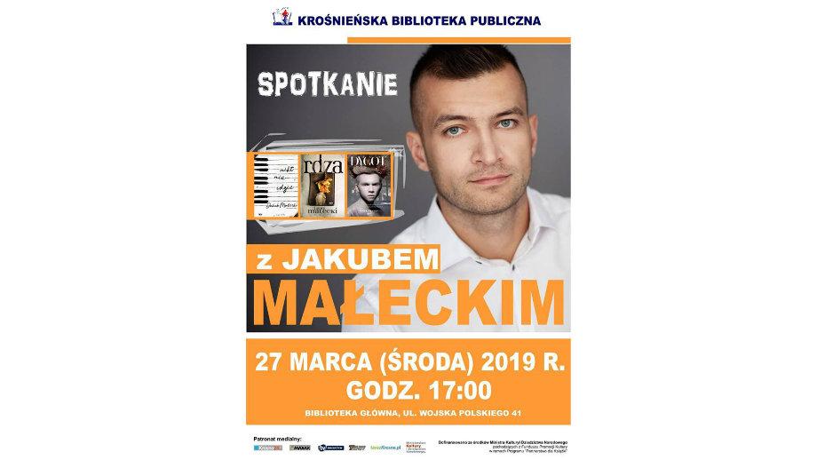 Jakub Małecki spotka się z czytelnikami