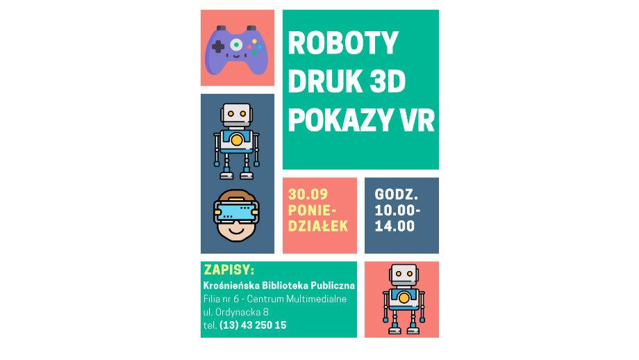 Lego Mindstorms, wirtualna rzeczywistość i druk 3D w Filii nr 6