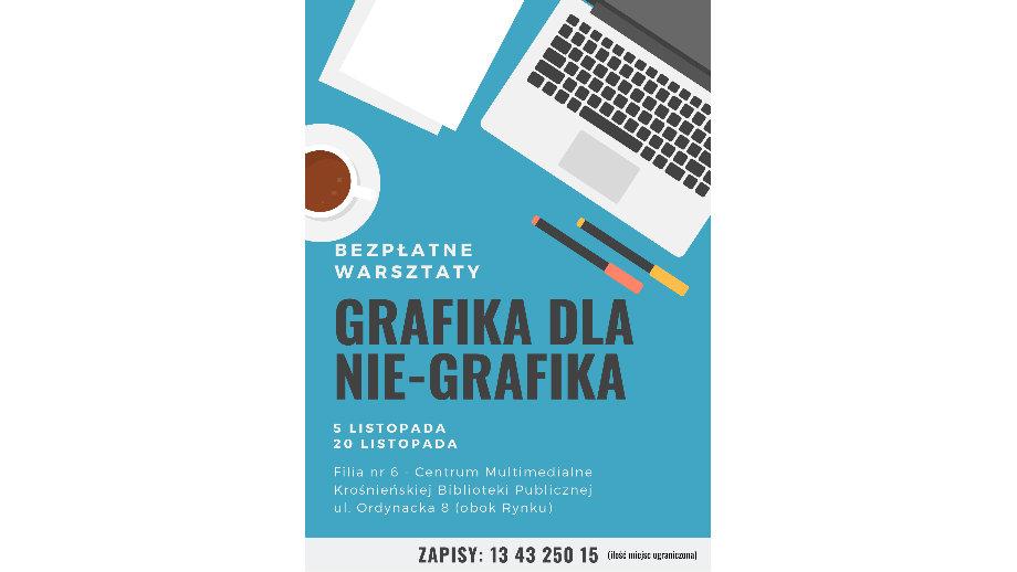 Grafika dla nie-grafika! Bezpłatne warsztaty w Krośnieńskiej Bibliotece Publicznej