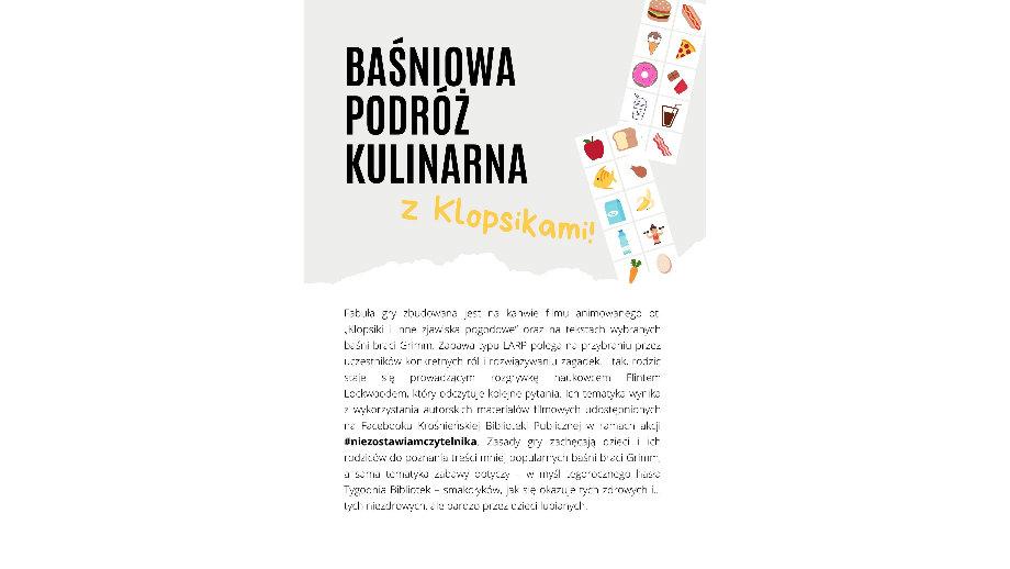 Baśniowa podróż kulinarna z Klopsikami