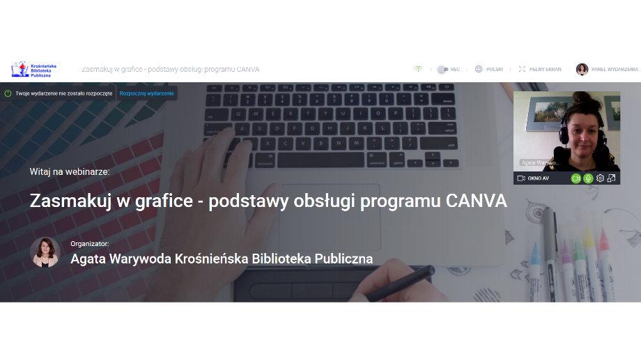 Zasmakuj w grafice! Webinarium z podstaw pracy w Canvie za nami