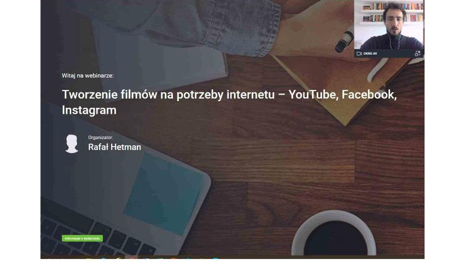"""""""Jak się wkręcić w kręcenie?"""" - szkolenie online z tworzenia filmów na potrzeby internetu"""