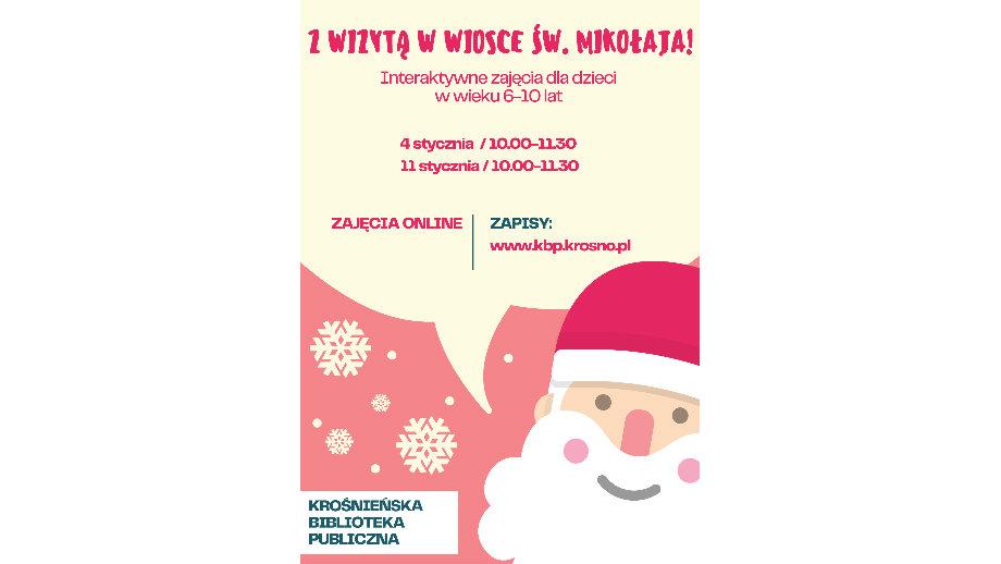 Z wizytą w wiosce Św. Mikołaja – zajęcia online dla dzieci w wieku 6-10 lat