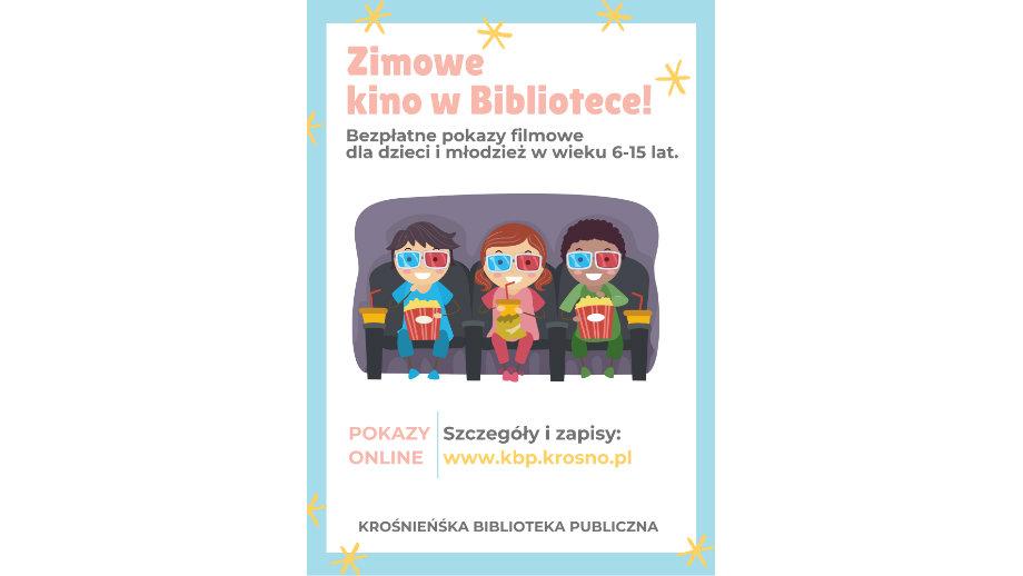 """""""Zimowe kino w Bibliotece"""" - najlepsze filmy krótkometrażowe dla dzieci i młodzieży"""