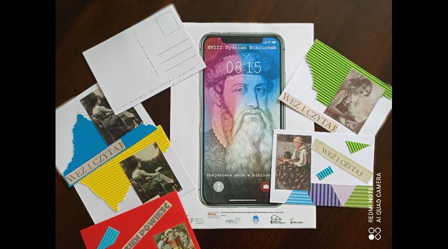 Wiedza, dobra zabawa i nietypowe pocztówki – czyli XVIII Ogólnopolski Tydzień Bibliotek w Filii nr 6