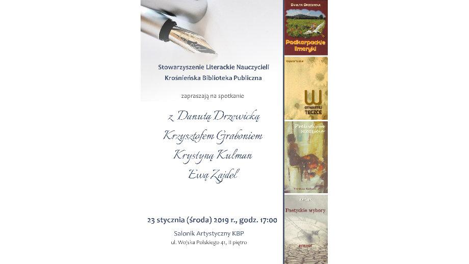 Promocja najnowszych wydawnictw członków Stowarzyszenia Literackiego Nauczycieli w Krośnie