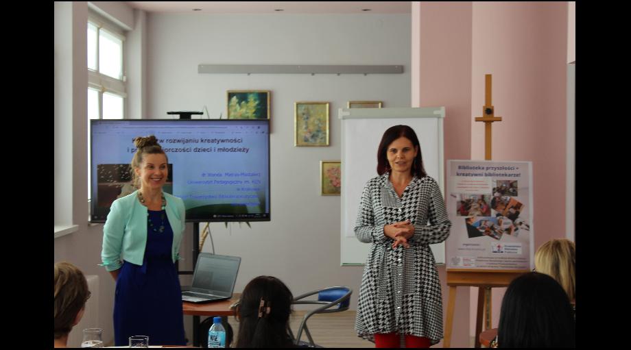 Książka w rozwijaniu kreatywności i przedsiębiorczości u dzieci i młodzieży - szkolenie dla bibliotekarzy