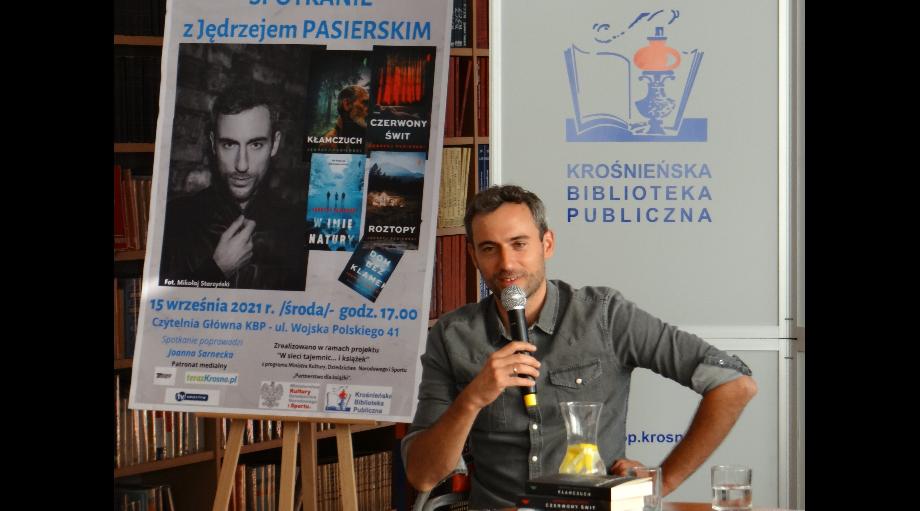 """""""Książki to mój największy kapitał..."""" Jędrzej Pasierski  na spotkaniu w KBP"""